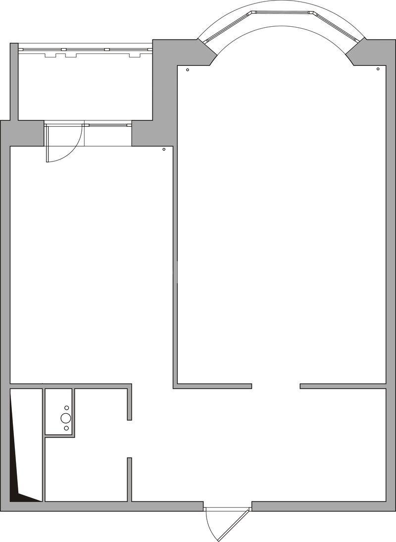 Однокомнатная квартира в доме серии и-155 на подмосковном бу.