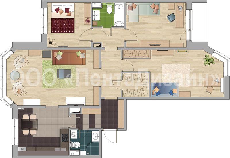 4-х комнатная квартира в доме