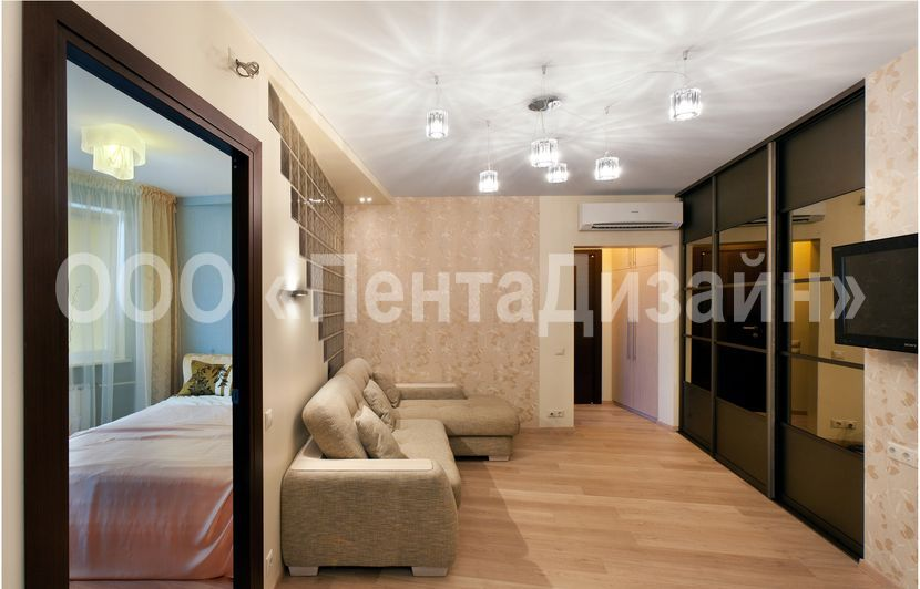 Дизайн двухкомнатной квартиры и 155 мк